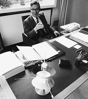 Lüst as president of the Max Planck Society, 1973. Photo: Reimar Lüst.