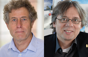 Photo Prof Tim Palmer, University of Oxford, UK and Prof Bjorn Stevens, Max Planck Society, Germany